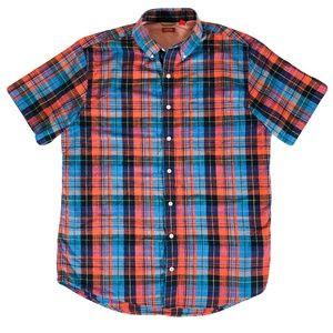 IZOD Men's XLT Casual Shirt Short Sleeve Vintage